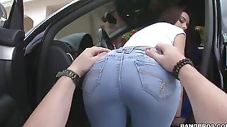 Cock big ass in jeans