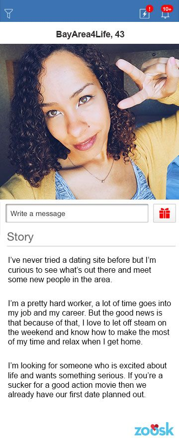 Online dating profile first date examples