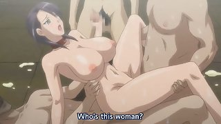 Busty hentai milf gets facialized