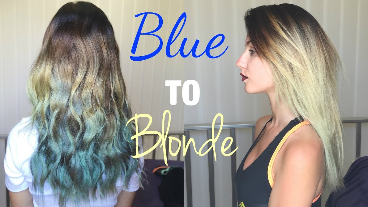 Get blue out of blonde hair
