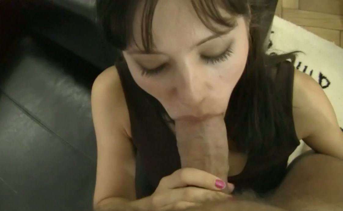 She fingers his ass during blowjob