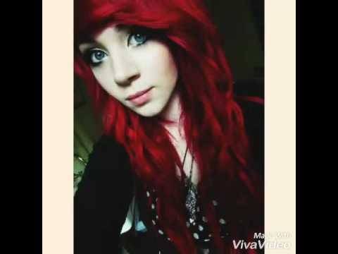 Emo girl with red hair