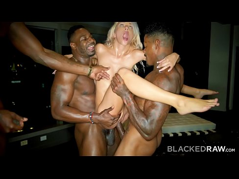 Blacks on blondes gang bang dp