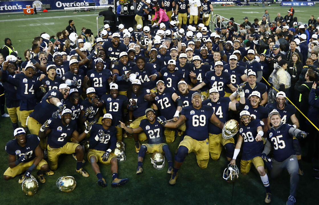 Notre dame football team picture